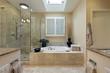 Luxury master bath with skylight