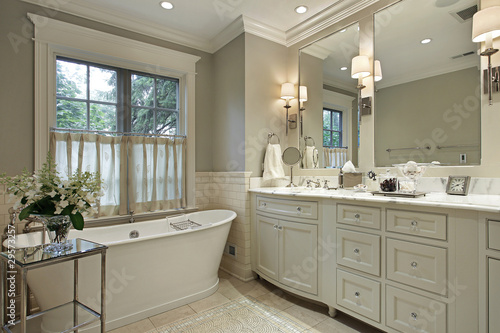 Master bath with marble counter - 29573257