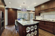 Traditional kitchen with granite island