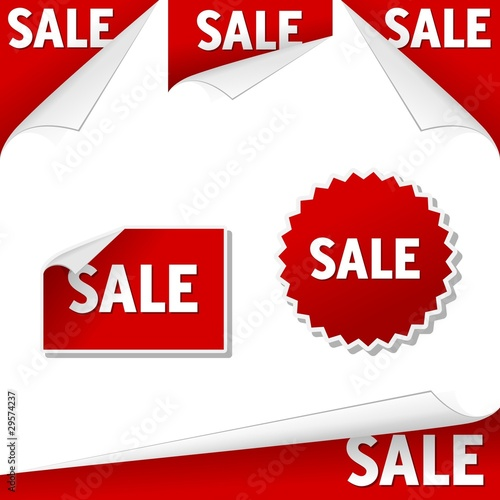 Sale labels in English
