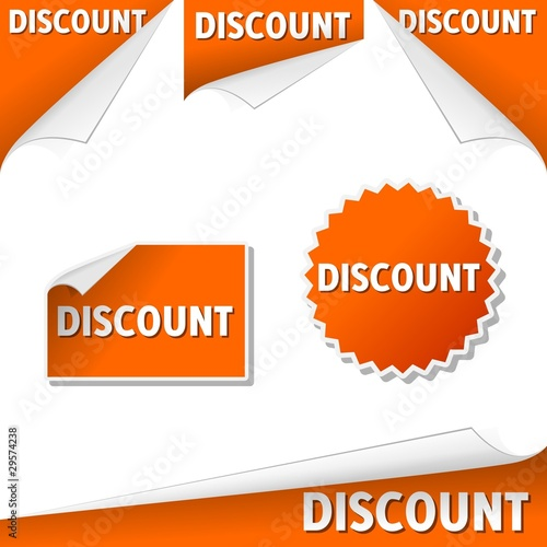 Discount labels in English