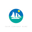 logo picto web bateau voyage marketing design icône
