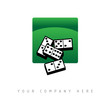 logo picto web jeu domino marketing commerce design icône