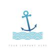 logo picto web ancre mer marketing pub commerce design icône