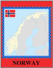 Norway national emblem map coat flag business background