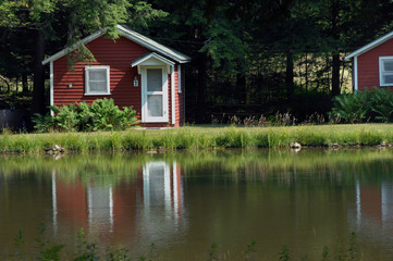Cabins by the lake