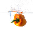 Bell Pepper Dropping Into Water