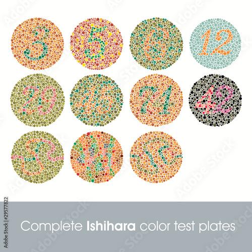 Fototapeta Complete Ishihara color test