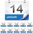 Kalender set blau