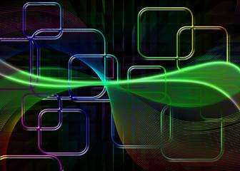 abstrakter Hintergrund Vierecke