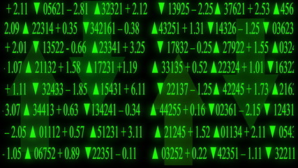 stock market board green