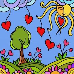 illustrazione per san valentino