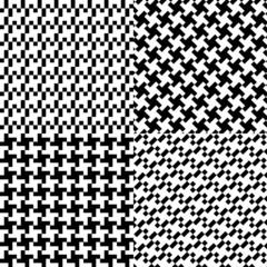 four seamless pixel pattern illustration