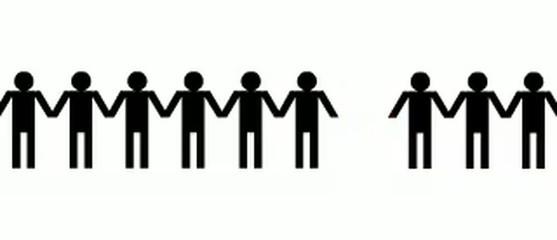 Menschenkette Vermisst gemeinschaft volk symbole