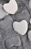 galets en forme de coeur