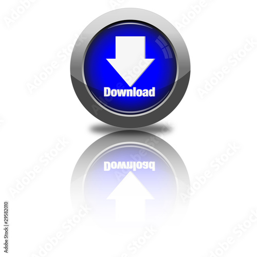 download Button dunkelblau rund