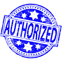 "Rubber stamp illustration showing ""AUTHORIZED"" text"