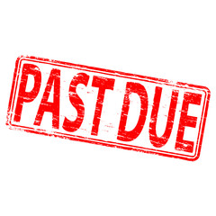 "Rubber stamp illustration showing ""PAST DUE"" text"