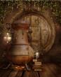 Piec alchemiczny w chatce elfów