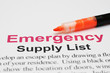Emergency supply list