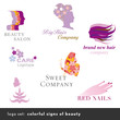 logo set: colorful signs of beauty