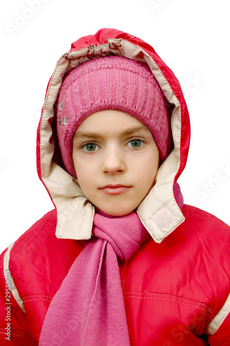 girl is in winter clothes