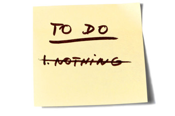 To do nothing postit