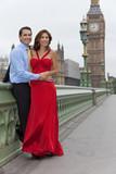 Romantic Couple on Westminster Bridge, Big Ben, London, England