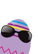 Osterei mit Sonnenbrille