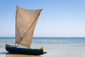 Malagasy outrigger pirogue