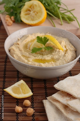 Hummus with pitta bread