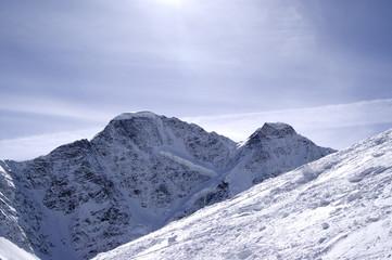 Ski slope of mount Cheget