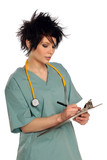 Health Care Provider With Clipboard poster
