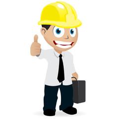 Homme chantier avec casque