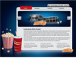 Webdesign template - Movie theme