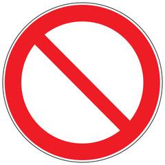 Zeichen Verbot
