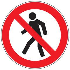Zeichen Für Fußgänger verboten