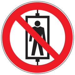 Zeichen Personenbeförderung verboten