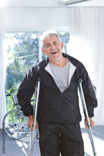 Portrait of a cheerful senior man