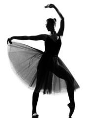 woman ballet dancer standing pose