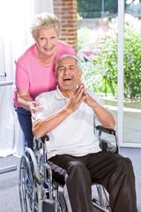 Cheerful elderly