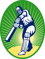 cricket player batting