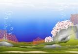 Fondale Marino-Acquario-Underwater Background-Vector poster