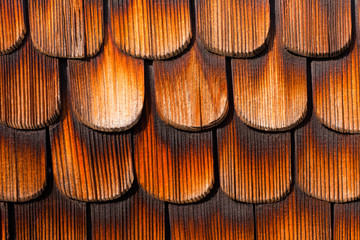 Wooden Shingles Background Pattern