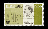 Eire stamp featuring Irish revolution martyr Patrick Pearse poster