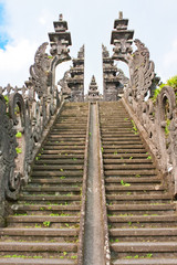 Ladder to a temple. Bali. Indonesia