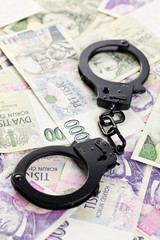 handcuffs on czech money