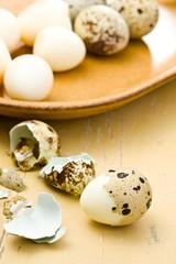 boiled quail eggs
