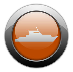 "Orange Metallic Orb Button ""Yacht"""