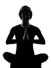 woman sukhasana pose meditation yoga